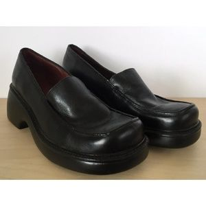 NINE WEST Locust Black Leather Loafer Slip On Shoe